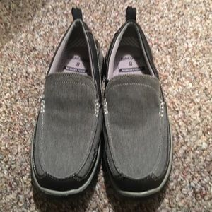 NWOT Faded Glory heathered gray loafers. SZ 8